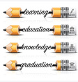 Education And Learning With Carve Lead Pencil Step vector image vector image