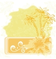 Exotic background palm and flowers vector image vector image