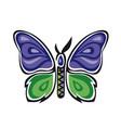 fantastic butterfly butterfly metamorphosis rose vector image vector image