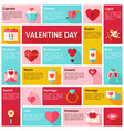 Flat Design Icons Infographic Valentine Day vector image vector image