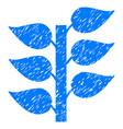 flora plant icon grunge watermark vector image vector image
