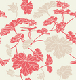 floral pattern seamless red vector image