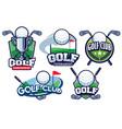 golf badge design set vector image