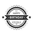 greeting sticker happy birthday isolated icon or vector image