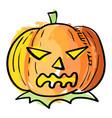 halloween pumpkin in watercolor effect vector image