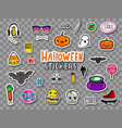 halloween teens stickers and patches vector image
