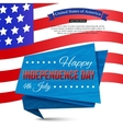 Happy Independence day of the USA typographical vector image