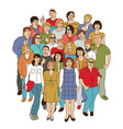happy like adult group casual caucasian people vector image vector image