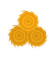 haystack icon flat style isolated on white vector image vector image