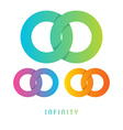 Infinity sign different colored vector image vector image