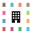 isolated apartment icon residential vector image vector image