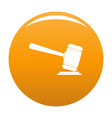 judge gavel icon orange vector image vector image