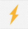 lightning bolt flash icon thunder symbol vector image