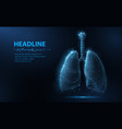lung abstract 3d lungs isolated on blue vector image