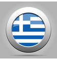 metal button with flag of Greece vector image