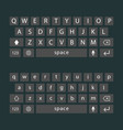 Modern keyboard of smartphone alphabet vector image