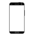 Modern realistic black smartphone vector image