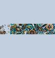 nautical hand drawn doodle banner cartoon vector image vector image
