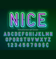 neon light alphabet multicolored extra glowing vector image vector image