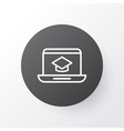 online education icon symbol premium quality vector image vector image