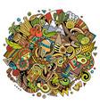peru hand drawn cartoon doodles vector image