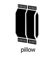 pillow icon simple black style vector image vector image