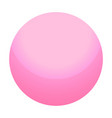 pink candy ball icon isometric style vector image vector image