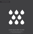 rain premium icon white on dark background vector image