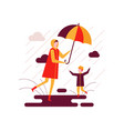 rainy day - colorful flat design style vector image vector image