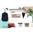 realistic male wardrobe elements composition vector image
