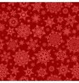 Red seamless snowflake pattern EPS 10 vector image vector image