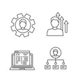 resume linear icons set vector image vector image