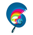 roller with wave of paint vector image vector image