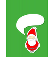 santa with speech bubble vector image vector image