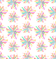 Seamless Texture with Multicolored Firework for vector image vector image
