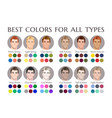 seasonal color analysis palette for all types vector image vector image