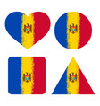 set 4 flags of moldova vector image vector image