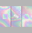 set of arabic holographic backgrounds vector image