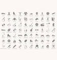 set of sport icons in flat design with shadows vector image