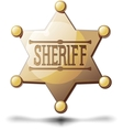 sheriff star vector image