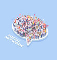 social network crowd composition vector image