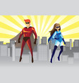 superheroes vector image