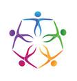 teamwork people unity friendship logo vector image