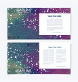 templates for square brochure leaflet cover vector image vector image