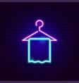 towel neon sign vector image