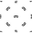 train cargo wagon pattern seamless black vector image vector image