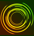 vibrant glowing neon circles abstract background vector image