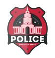 police law enforcement badge vector image