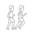 men avatar running or jogging icon image vector image