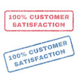 100 percent customer satisfaction textile stamps vector image vector image